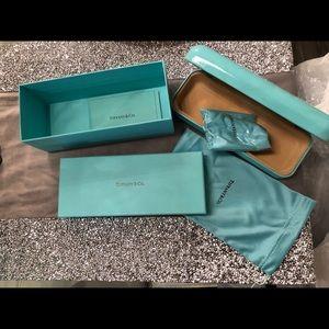 Tiffany & Co glasses case with box & accessories